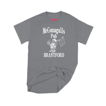 Load image into Gallery viewer, McGonagalls Pub Logo T-Shirt Small Charcoal/White