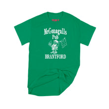 Load image into Gallery viewer, McGonagalls Pub Logo T-Shirt Small Turf Green/White