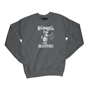 McGonagalls Pub Logo Sweatshirt Small Black/White