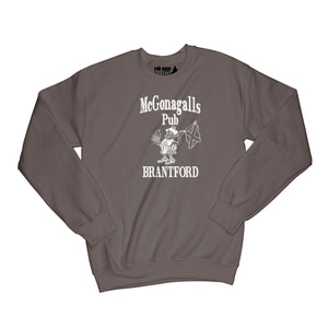 McGonagalls Pub Logo Sweatshirt Small Dark Chocolate/White