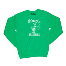 Load image into Gallery viewer, McGonagalls Pub Logo Sweatshirt Small Irish Green/White