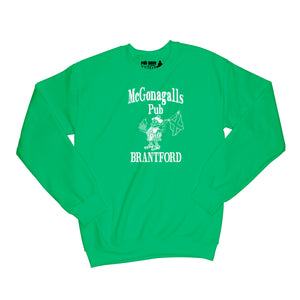 McGonagalls Pub Logo Sweatshirt Small Irish Green/White
