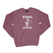 Load image into Gallery viewer, McGonagalls Pub Logo Sweatshirt Small Maroon/White