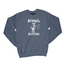 Load image into Gallery viewer, McGonagalls Pub Logo Sweatshirt Small Navy Blue/White