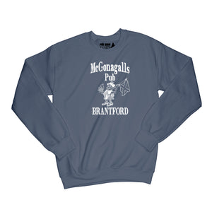 McGonagalls Pub Logo Sweatshirt Small Navy Blue/White