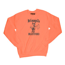 Load image into Gallery viewer, McGonagalls Pub Logo Sweatshirt Small Orange/Black