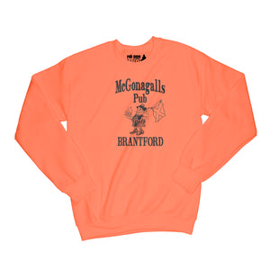 McGonagalls Pub Logo Sweatshirt Small Orange/Black