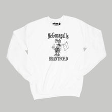 Load image into Gallery viewer, McGonagalls Pub Logo Sweatshirt Small White/Black