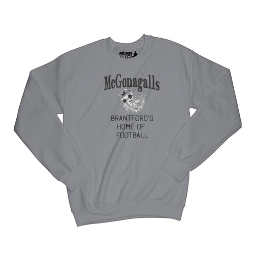 McGonagalls Pub Home of Football Sweatshirt Small Charcoal