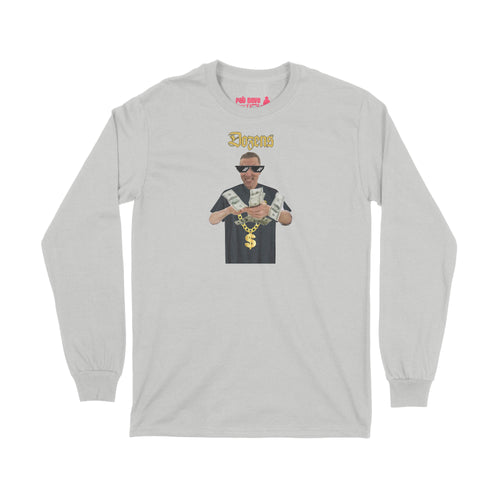 Tyler Wilson Dozens of Dollars Long Sleeve T-Shirt Small Ash Grey