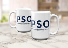 Load image into Gallery viewer, PSO Large Text Coffee Mug