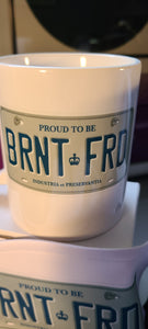 BRNT FRD (Brantford) License Plate Coffee Mug