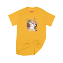 Load image into Gallery viewer, Fat Dave Fiesta Unicorn T-Shirt Small Gold