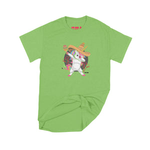 Fat Dave Fiesta Unicorn T-Shirt Small Lime Green