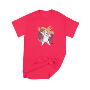 Fat Dave Fiesta Unicorn T-Shirt Small Red