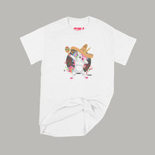 Load image into Gallery viewer, Fat Dave Fiesta Unicorn T-Shirt Small White