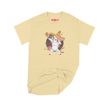 Load image into Gallery viewer, Fat Dave Fiesta Unicorn T-Shirt Small Yellow Haze