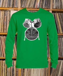 Greenwaters drum kit Long Sleeve T-shirt