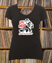 Load image into Gallery viewer, Gag Order Skank Till You Can't Ladies V-Neck Shirt