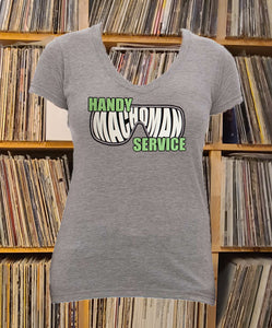 Handy Machoman Service Ladies V-Neck Shirt
