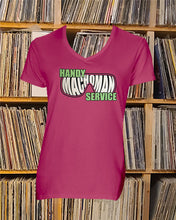 Load image into Gallery viewer, Handy Machoman Service Ladies V-Neck Shirt