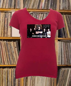 I'm of Vintage band Ladies V-Neck Shirt