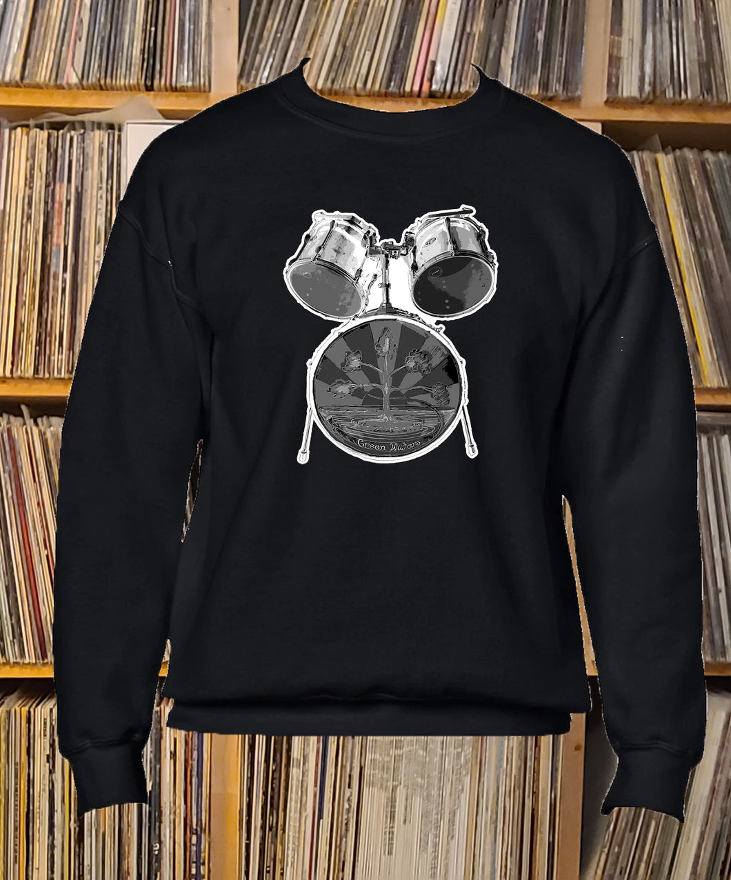 Greenwaters drum kit Sweatshirt