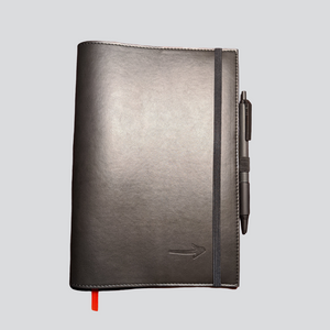 Open image in slideshow, A5 Notebook Cover | Leather Cover | On Track