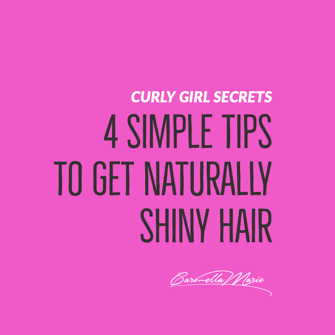 4 simple tips to get naturally shiny hair