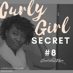 curly girl secret #8 flat twist out using a curl cream