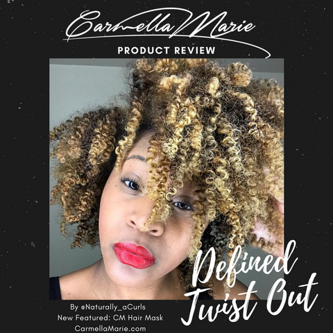 defined twist out using products for curly hair