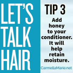 hair tip #3: honey for deep conditioner