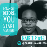 natural hair tip detagle hair before you start washing