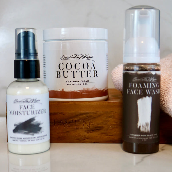 skin care is self care with cocoa butter