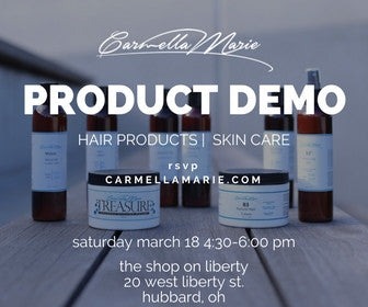youngstown ohio natural hair product for curls and locs: product demo day for carmella marie