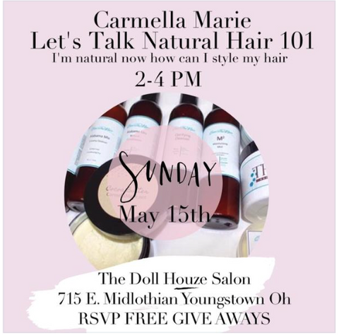 natural hair event with products for curly hair