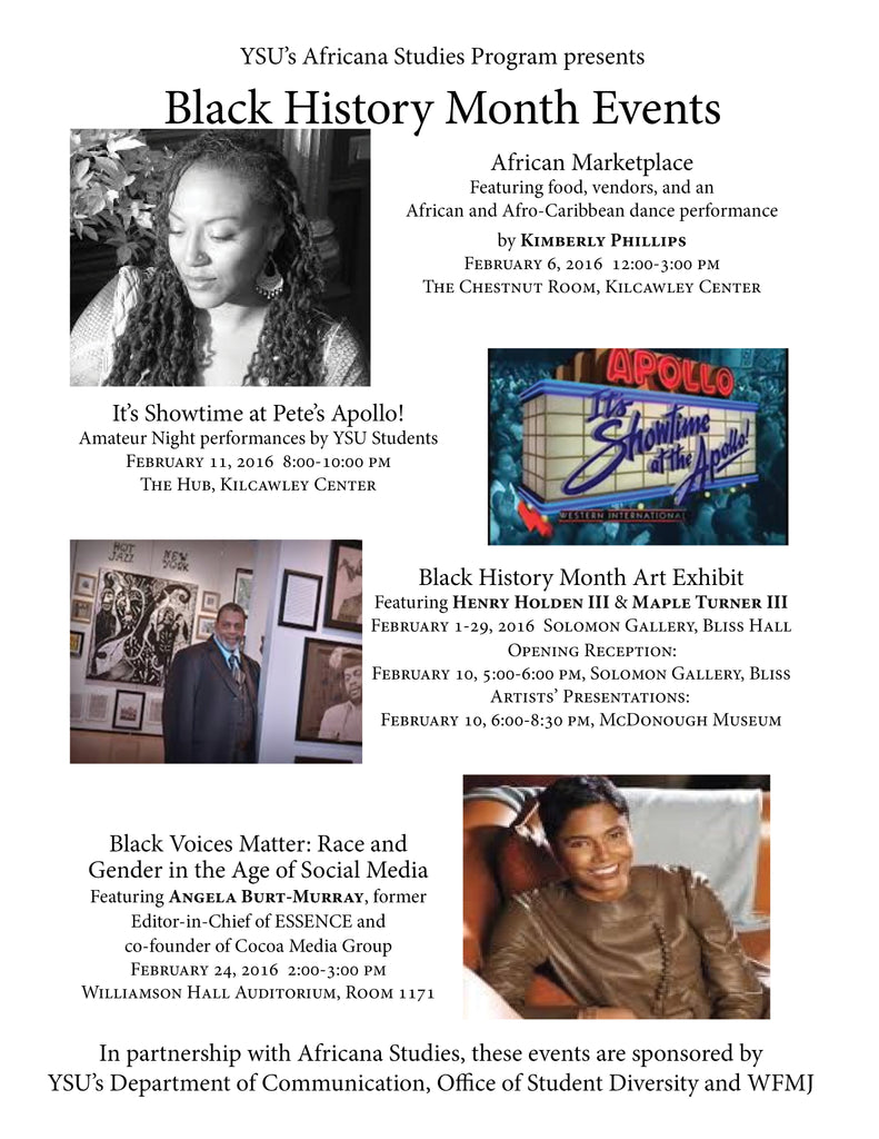 Youngstown State University Celebrates Black History Month: 2016 Events