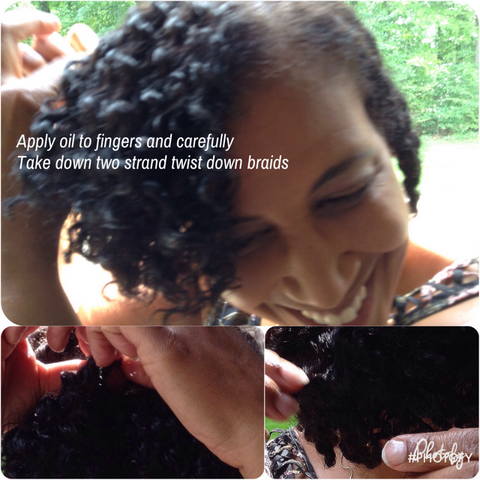How to take down flat twists: hair tip use oil: products for naturally curly hair product tutorial for Carmella Marie