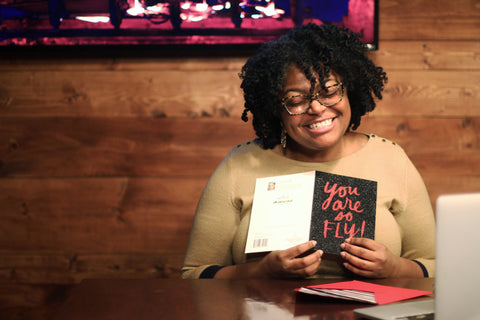 carmella marie reading hallmark valentine card from a curl friend : the jill scott collection