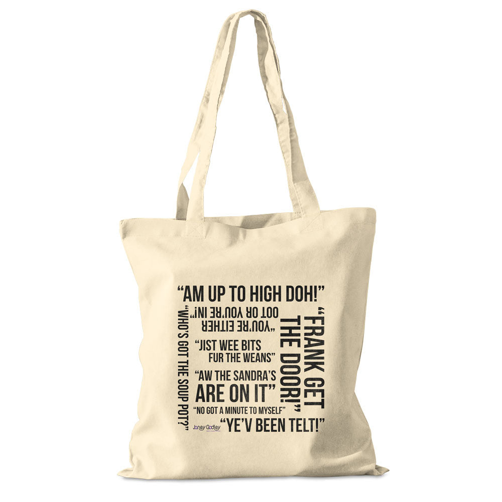 Janey Godley cotton shopper bag