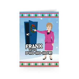 Frank get the door christmas card janey godley