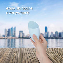 Load image into Gallery viewer, Caresmith Sonic Facial Cleansing Massager Brush (Blue Arctic)