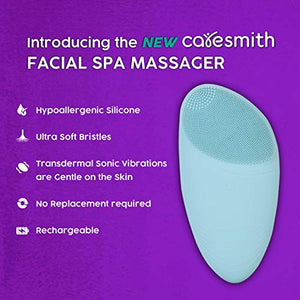 Caresmith Sonic Facial Cleansing Massager Brush (Blue Arctic)