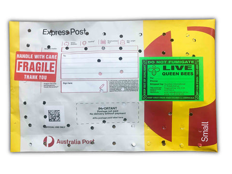 Queen bees postage using Express Post