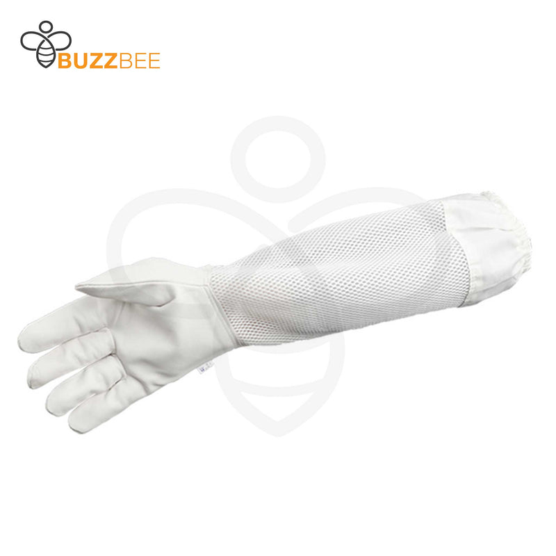 Warm Weather Beekeeping White Sheepskin Gloves