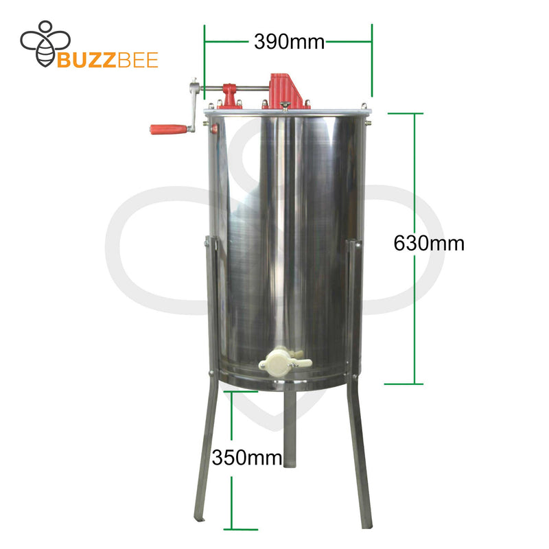 Honey Extractor 2 Frame Stainless Steel (304) - Manual - Buzzbee
