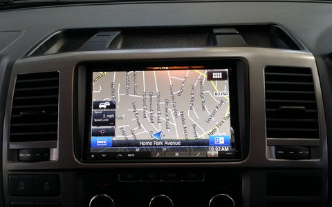 "Alpine 8"" navi installed into vw t5 by turnbulls"
