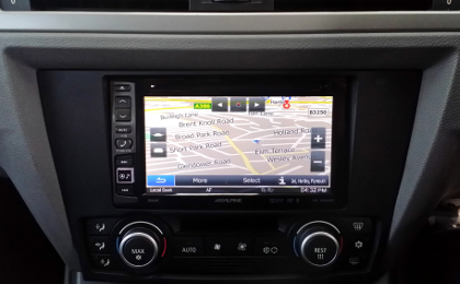 Alpine INE-W990BT Navigation Screen E91 BMW