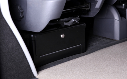 VW T5 swivel seat under seat locker