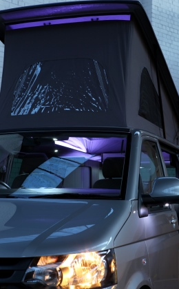 VW T5 camper pop top interior lights